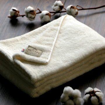 日本 今治毛巾 伊織 原生頂級有機棉浴巾