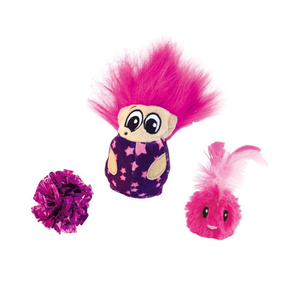 三合1小貓元氣組-紫色
