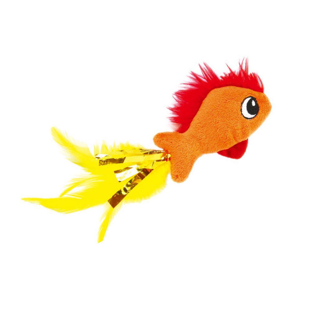 羽毛熱帶魚-貓草玩具