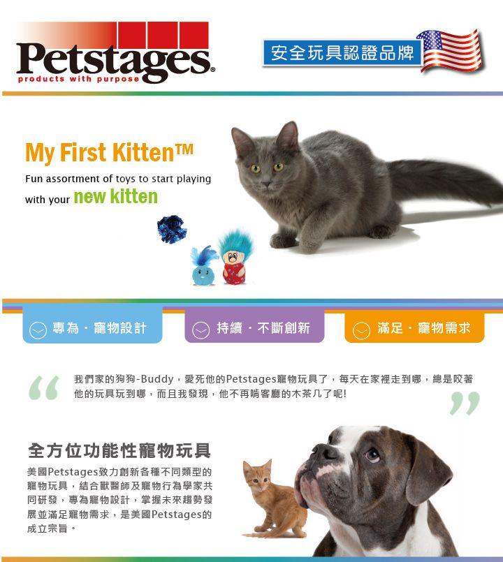 美國 Petstages 貓玩具 3合1小貓元氣組 (藍)