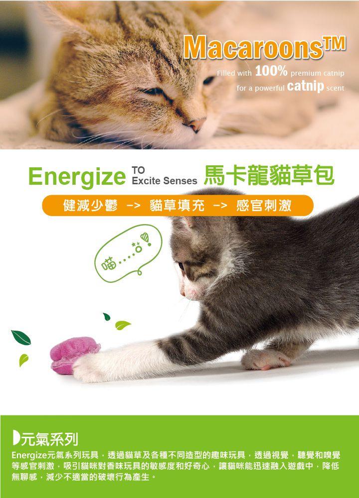 美國 Petstages 貓玩具 馬卡龍貓草包