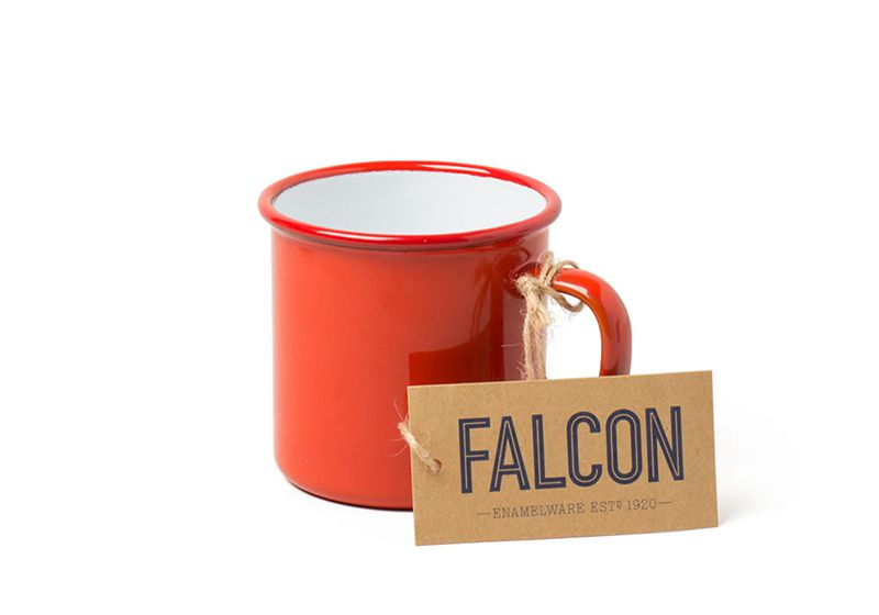 英國 Falcon 獵鷹琺瑯 馬克杯 350ml (紅)