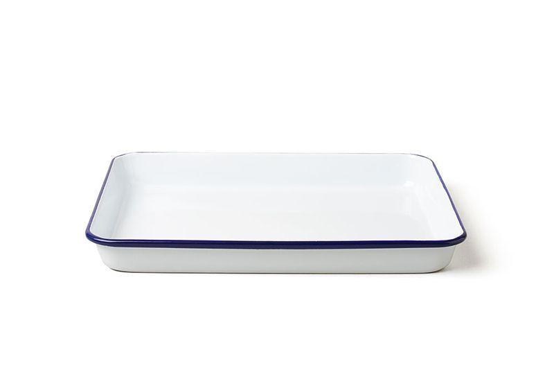 英國 Falcon 獵鷹琺瑯 托盤 烤盤 (藍白)