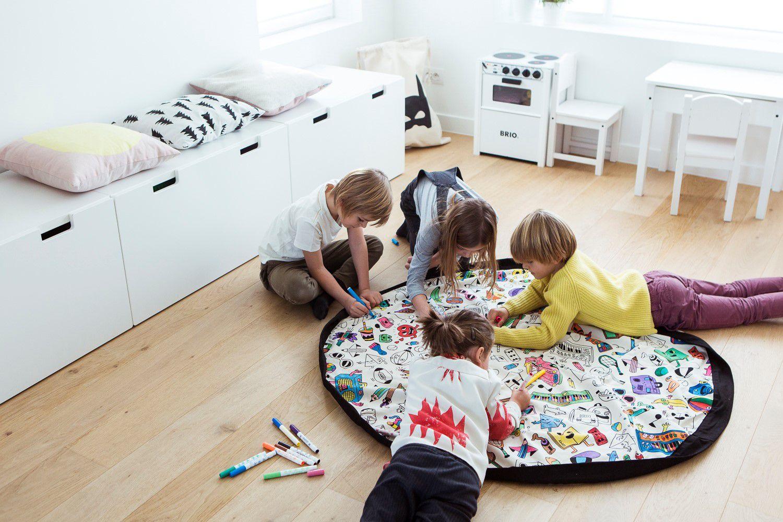 比利時 play & go 玩具整理袋 藝術家聯名款 (趣味塗鴉)