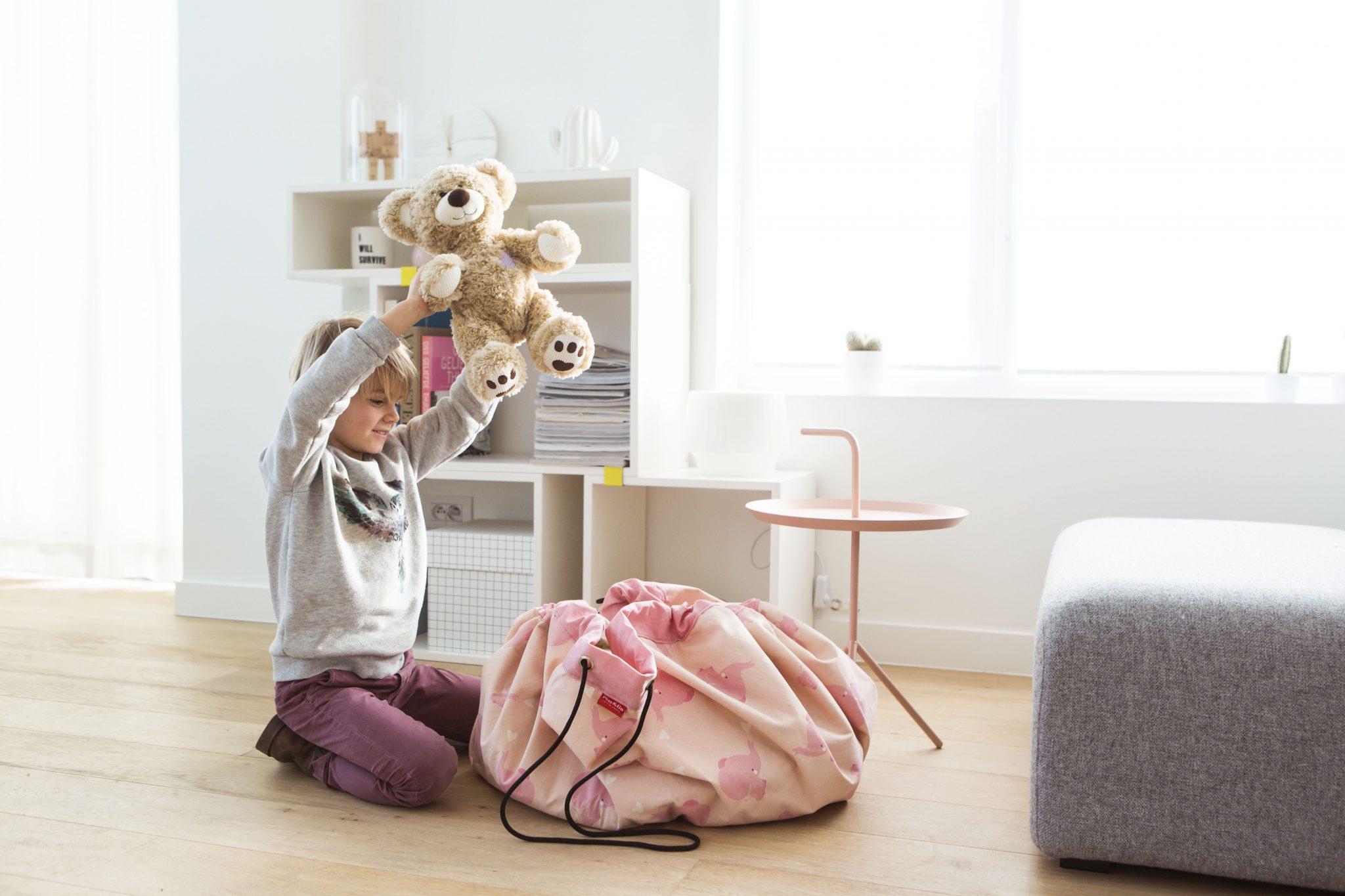 比利時 play & go 玩具整理袋 藝術家聯名款 (粉紅大象)