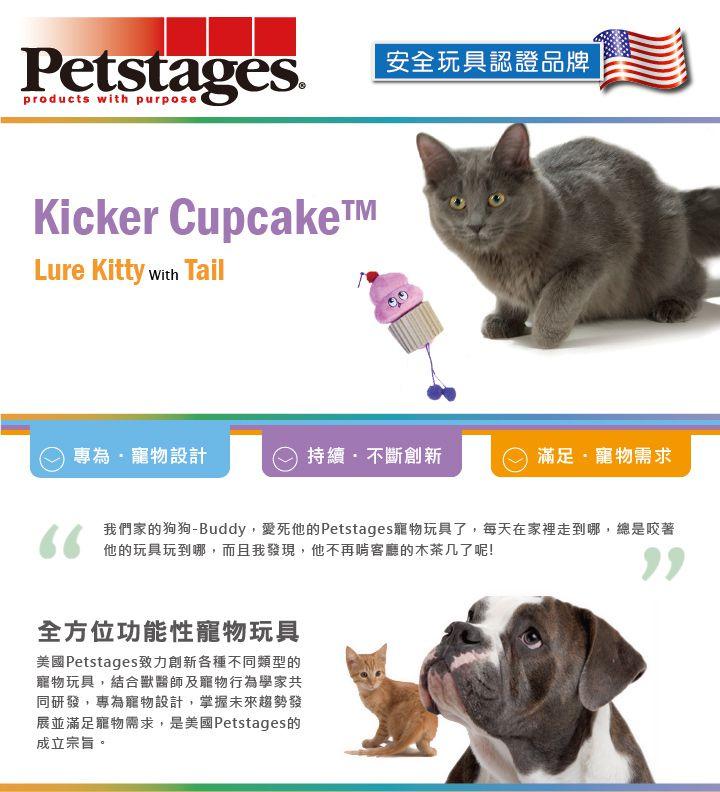 美國 Petstages 貓玩具 逗趣蛋糕串