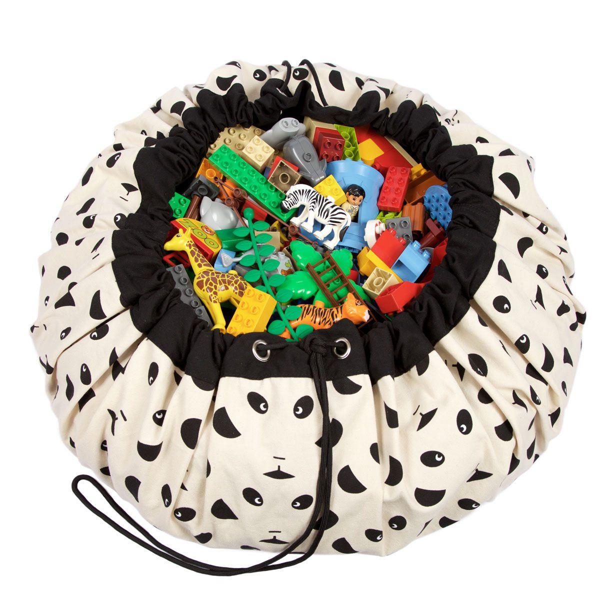 比利時 play & go 玩具整理袋 藝術家聯名款 (貓熊)