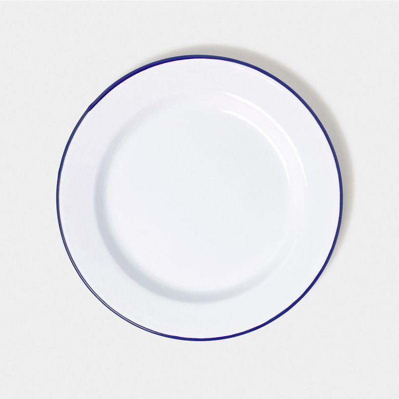 英國 Falcon 獵鷹琺瑯 圓形餐盤4入組 24cm (藍白)1