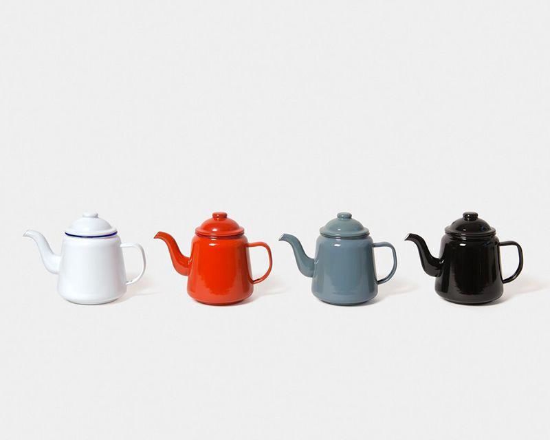 英國 Falcon 獵鷹琺瑯 茶壺 (藍白)1