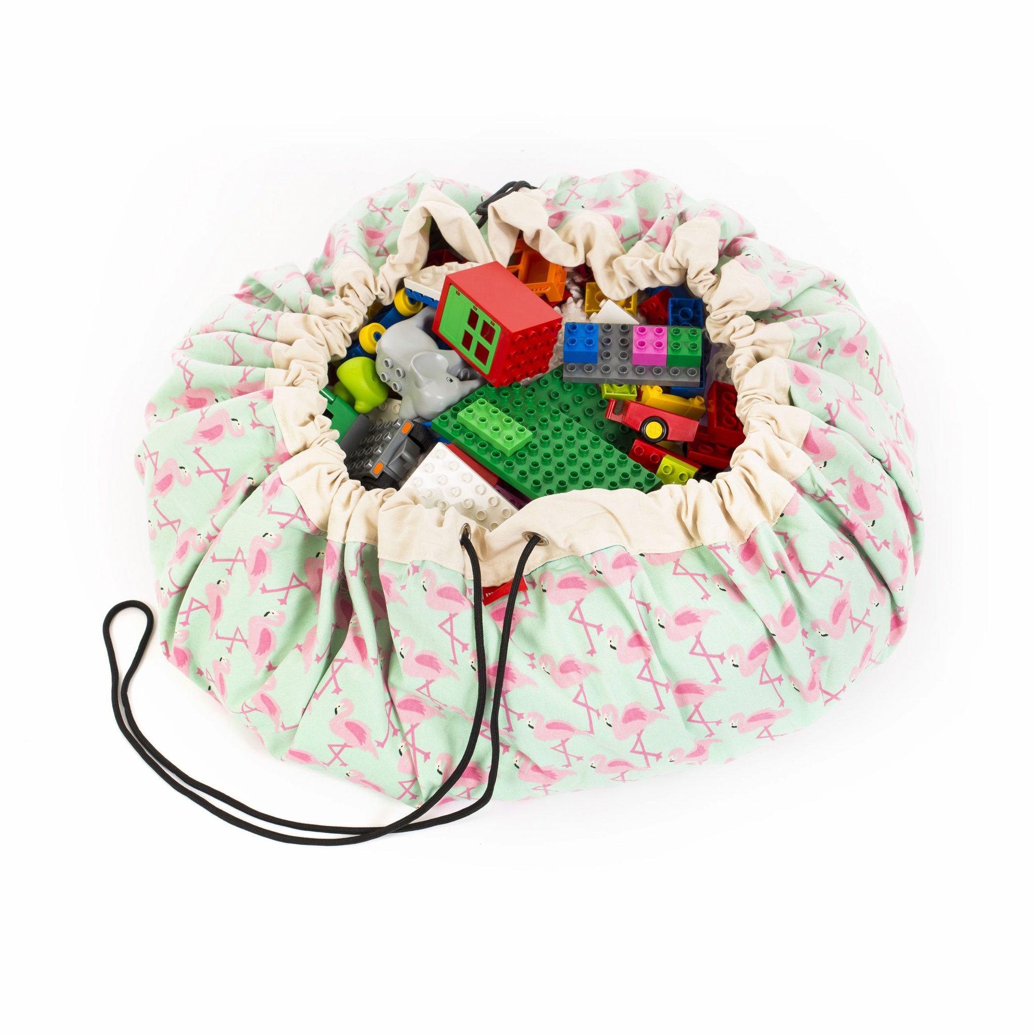 比利時 play & go 玩具整理袋 (派對紅鶴)