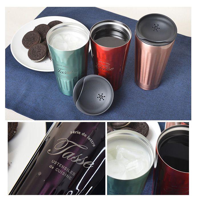 CB Japan 巴黎系列不鏽鋼雙層保溫保冷杯375ml 含蓋 (尊貴紫)