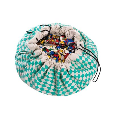比利時 play & go 玩具整理袋 (菱格綠)