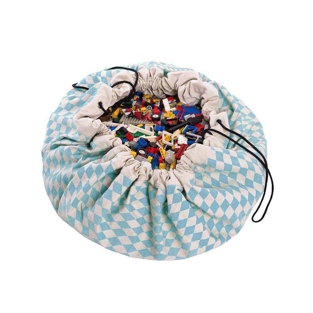 比利時 play & go 玩具整理袋 (菱格藍)