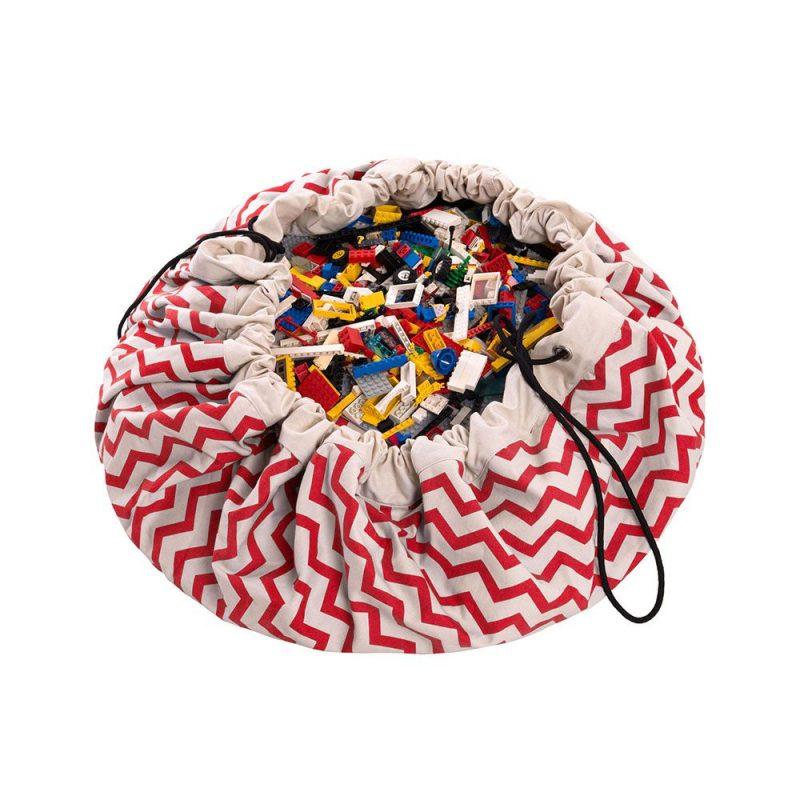 比利時 play & go 玩具整理袋 (電波紅)
