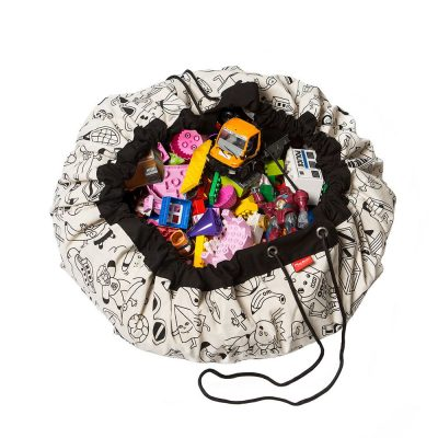 比利時 play & go 玩具整理袋 藝術家聯名款 (趣味塗鴉) 附三隻塗鴉筆