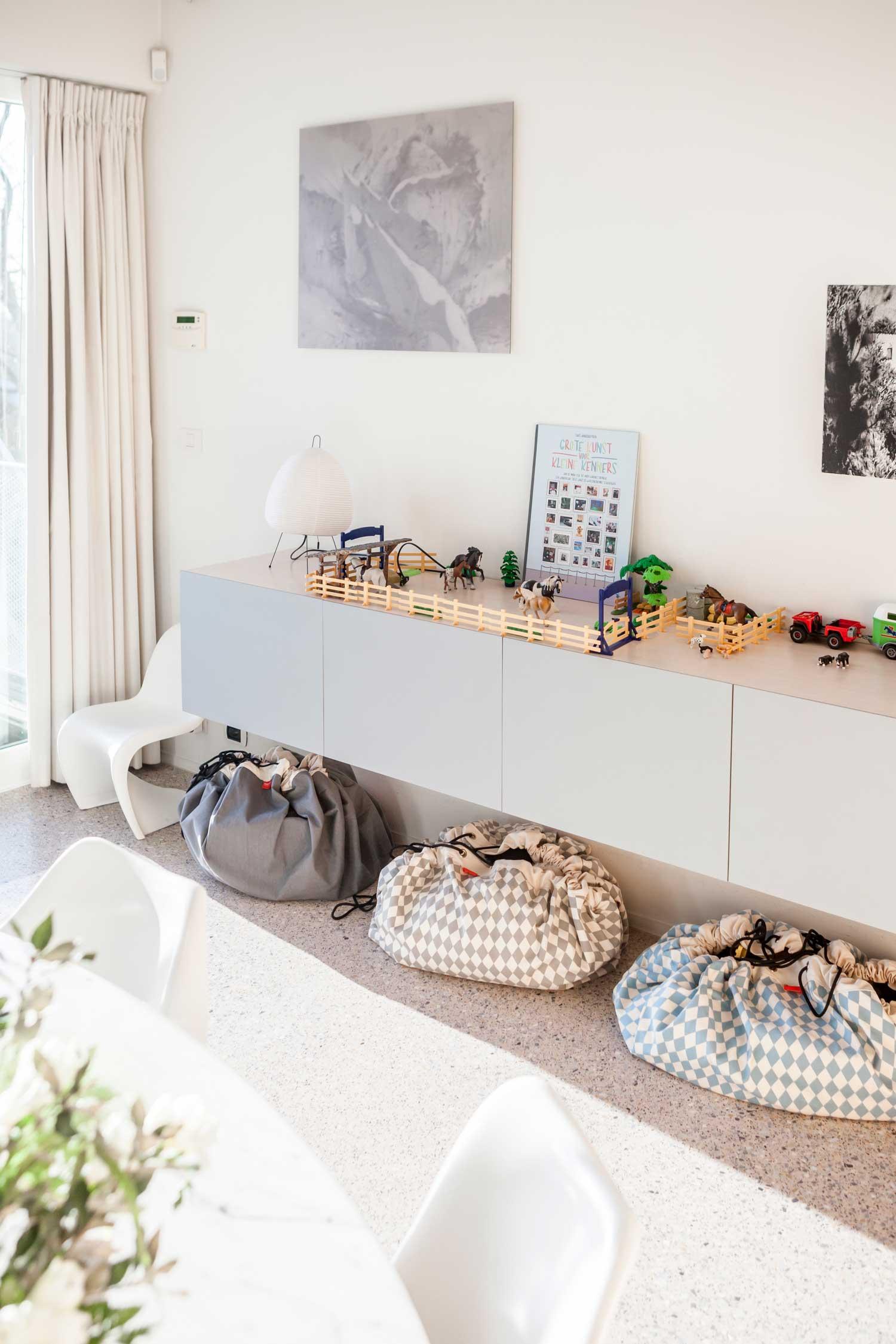 比利時 play & go 玩具整理袋 (菱格灰)