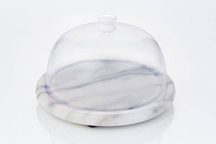 JEmarble 天然大理石 7吋半迷你保鮮盤 / 蛋糕盤 (兩色可選)