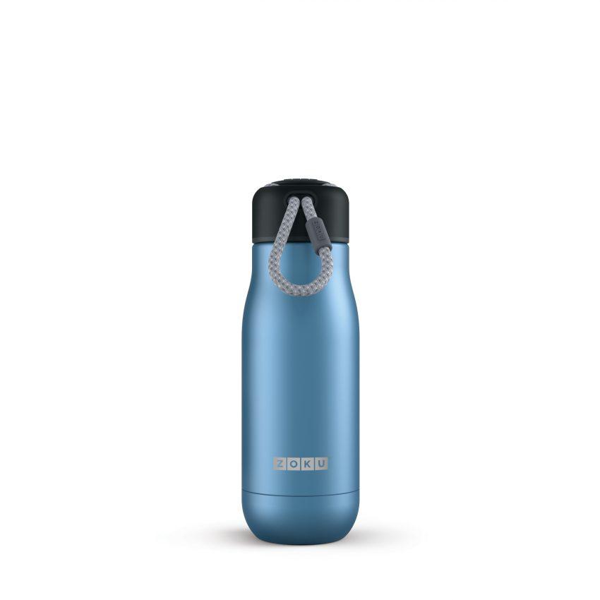 美國 ZOKU真空不鏽鋼保溫瓶 350ml 星空藍