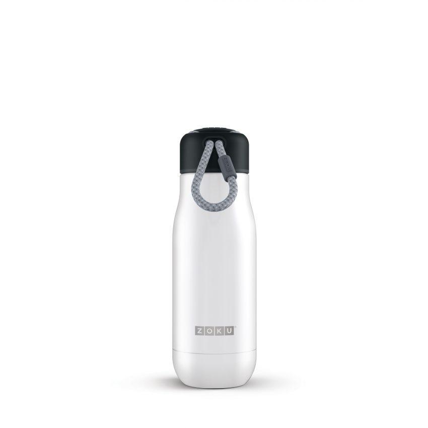 美國 ZOKU真空不鏽鋼保溫瓶 350ml 珍珠白