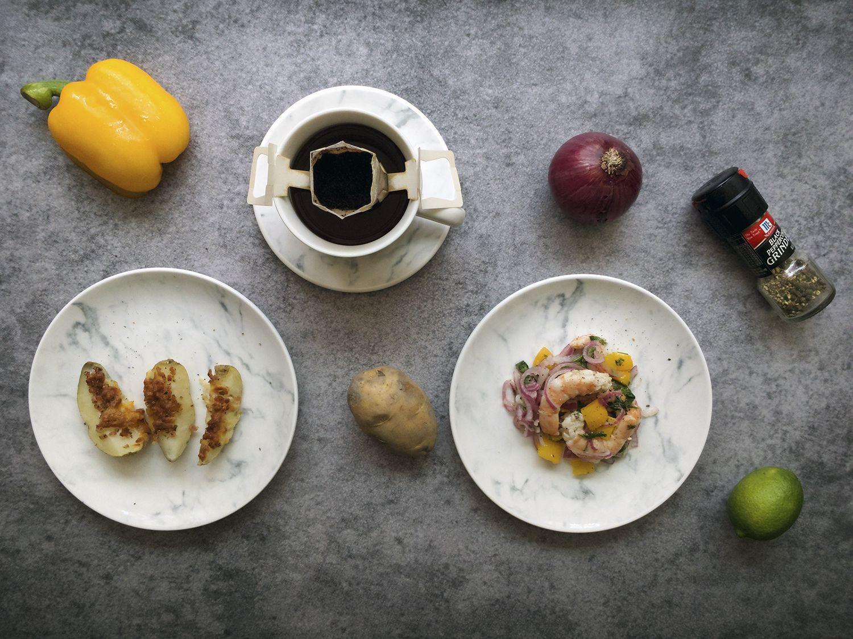 FMT 我的菜 氣質石紋生活杯盤組 (圓盤2入+⾺克杯盤組)