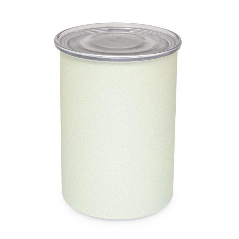 AirScape 專利排氣閥不鏽鋼密封罐/儲豆罐 64oz 珍珠白