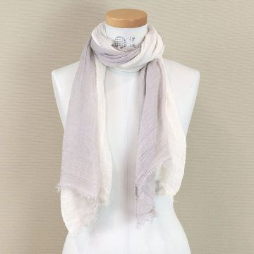 IORI_商品_草木染有機棉絲巾(灰)