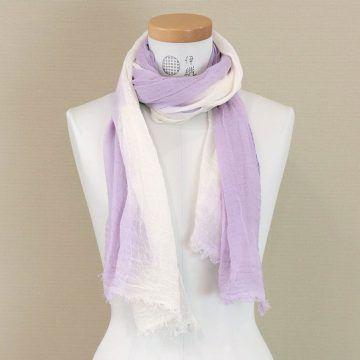 IORI_商品_草木染有機棉絲巾(紫)