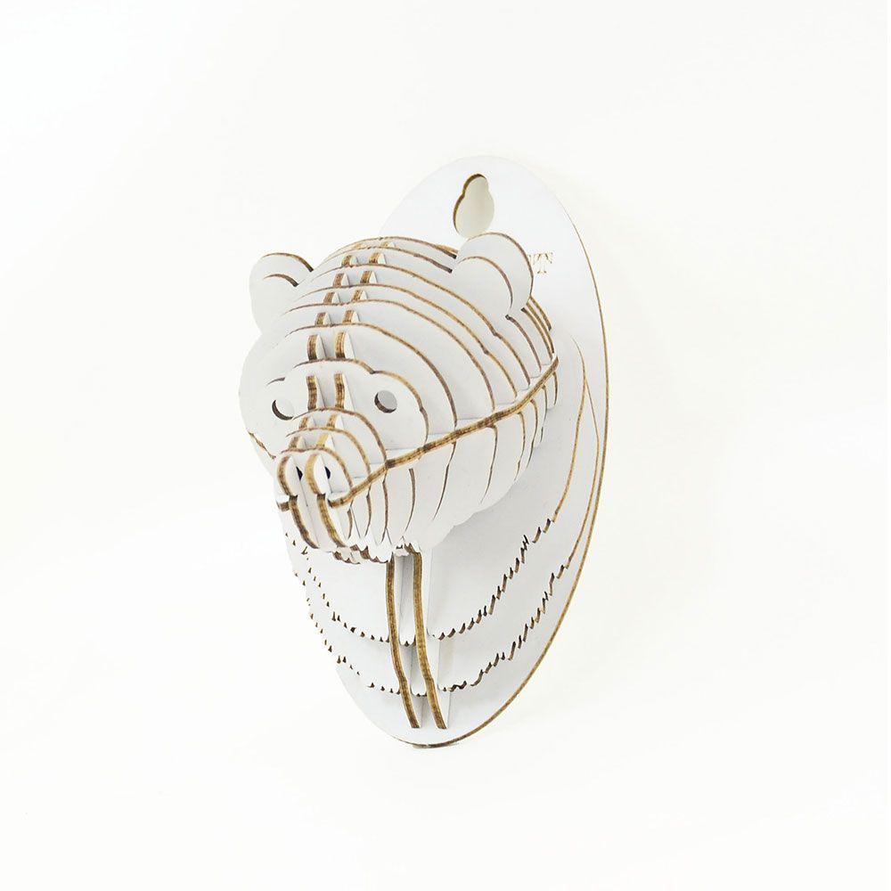 TENONART 熊頭掛飾 (白/未組裝)