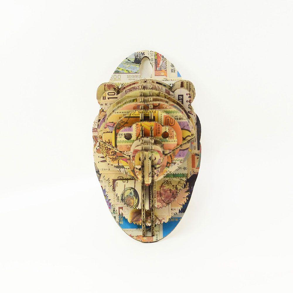 TENONART 熊頭掛飾 (郵票/未組裝)