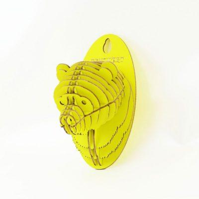 TENONART 熊頭掛飾 (黃/未組裝)