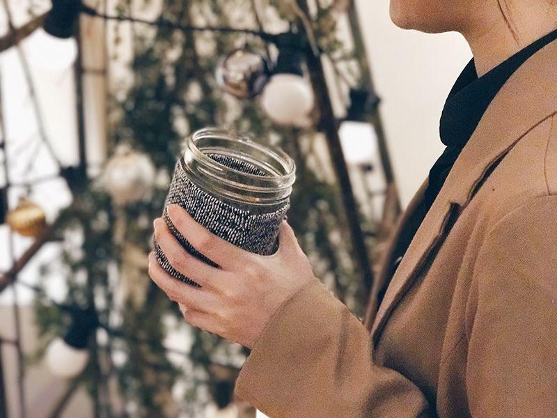 Ball 梅森罐 冬日暖手熱飲專用杯2入組 (16oz寬口)