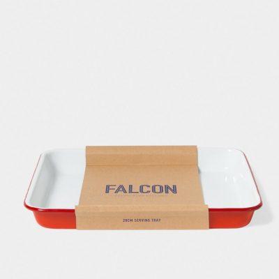 英國 Falcon 獵鷹琺瑯 托盤 烤盤 (紅白)