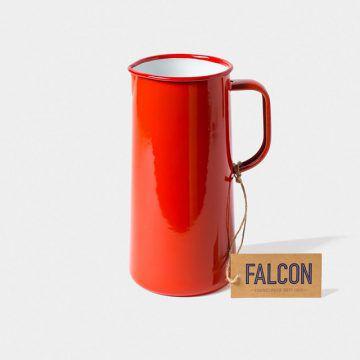 英國 Falcon 獵鷹琺瑯 牛奶罐 水罐 1704ml (紅白)