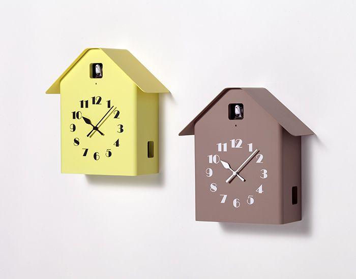 日本 Lemnos 雕刻時鐘 房型布穀鳥時鐘