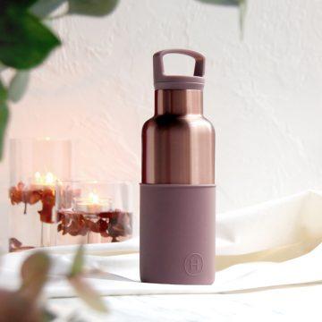 美國 HYDY 時尚不銹鋼保溫水瓶 480ml 蜜粉金瓶 (乾燥玫瑰)