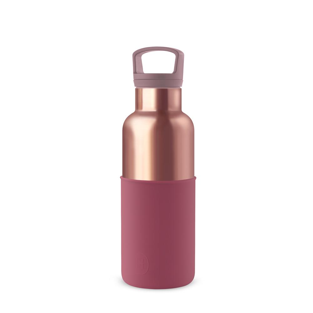 美國 HYDY 時尚不銹鋼保溫水瓶 480ml 蜜粉金瓶 (酒紅)