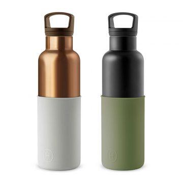美國 HYDY 時尚不銹鋼保溫水瓶雙瓶組 金瓶+黑瓶2入 (顏色任選)