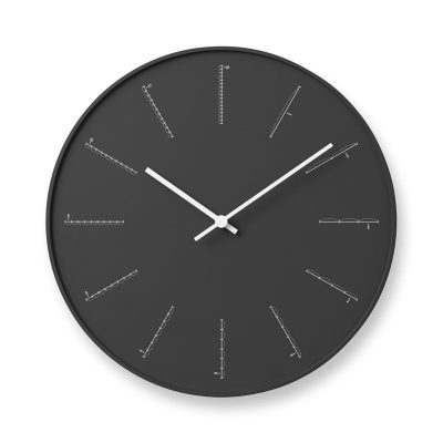 日本 Lemnos 分割時鐘 (黑)