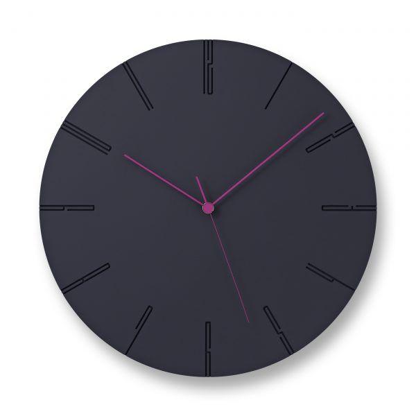 日本 Lemnos 雕刻時鐘Ⅱ (黑)