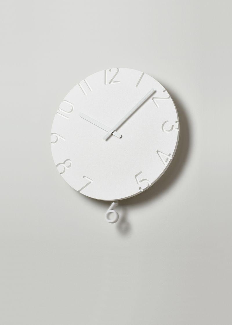 日本 Lemnos 雕刻時鐘 鐘擺款