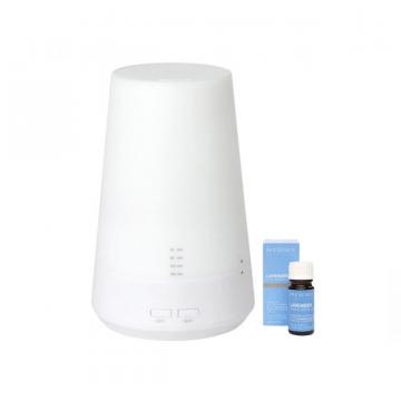 TickTock-【熱銷精油組合】-星空塔超音波燈控水氧機- -100%薰衣草純精油-9ml