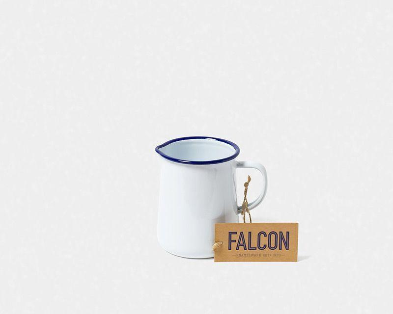 英國 Falcon 獵鷹琺瑯 牛奶罐 水罐 醬汁罐 536ml (藍白)