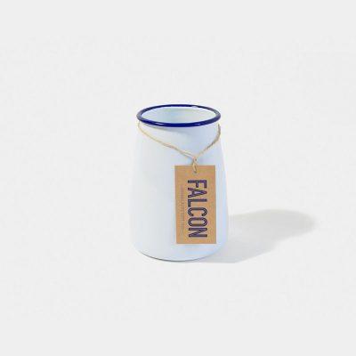 英國 Falcon 獵鷹琺瑯 餐具收納罐 (藍白)