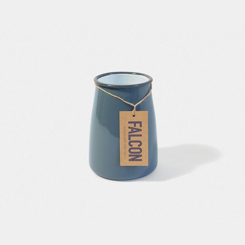 英國 Falcon 獵鷹琺瑯 餐具收納罐 (灰白)