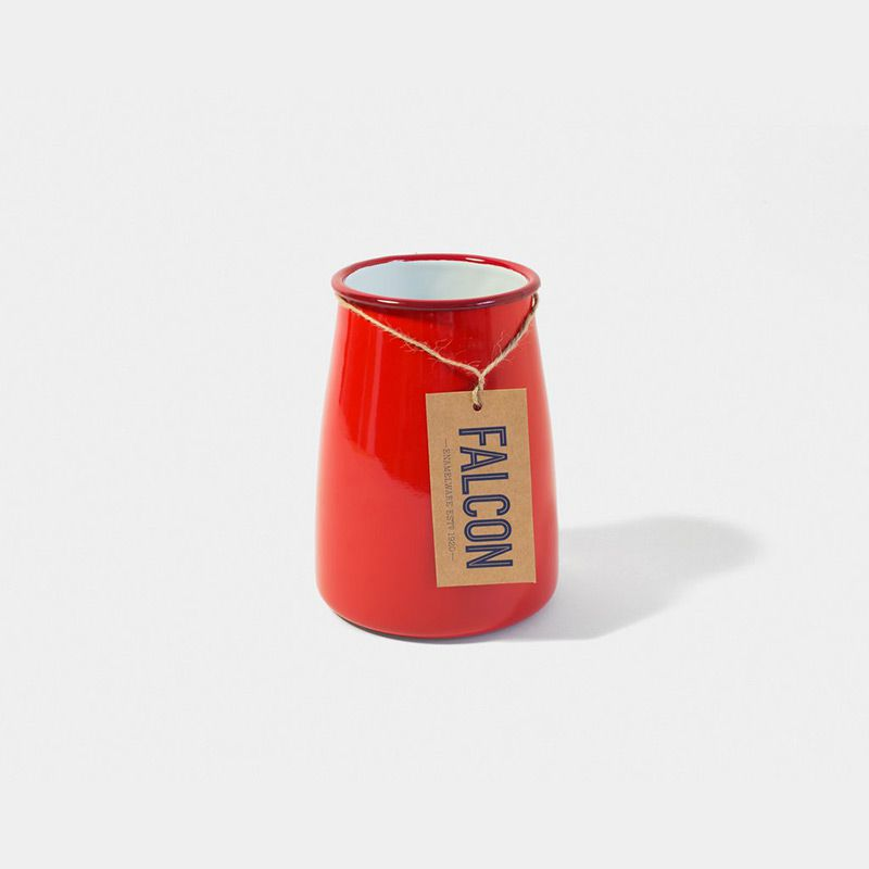 英國 Falcon 獵鷹琺瑯 餐具收納罐 (紅白)