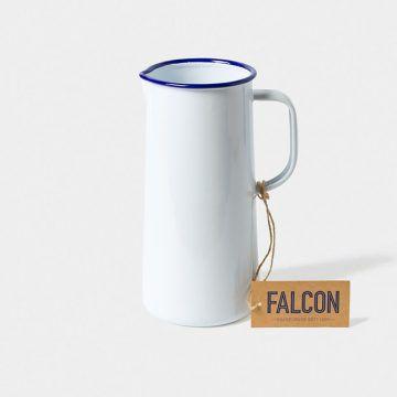 英國 Falcon 獵鷹琺瑯 牛奶罐 水罐 1704ml (藍白)