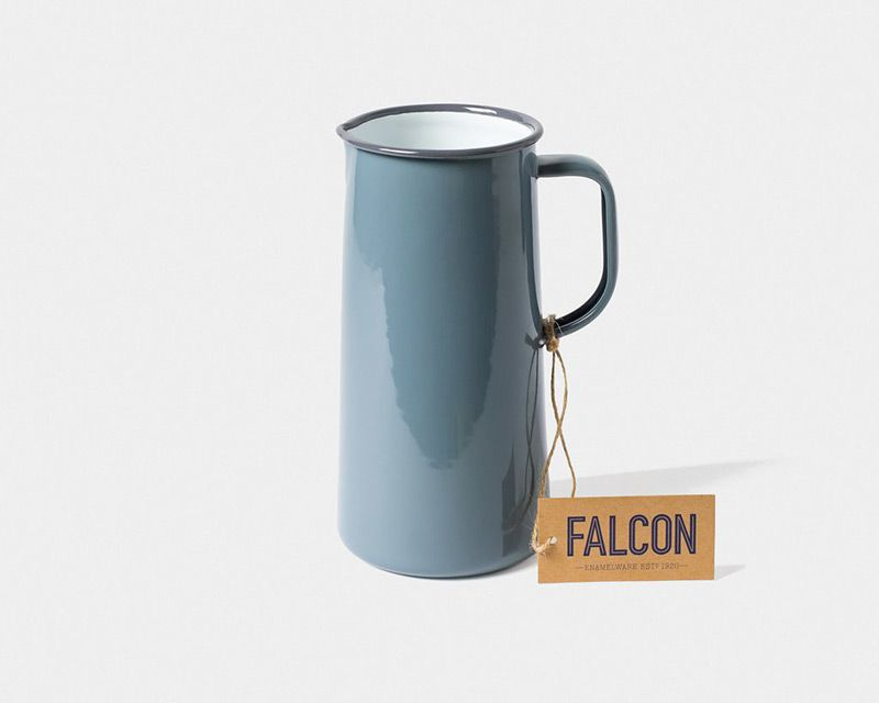 英國 Falcon 獵鷹琺瑯 牛奶罐 水罐 1704ml (灰白)