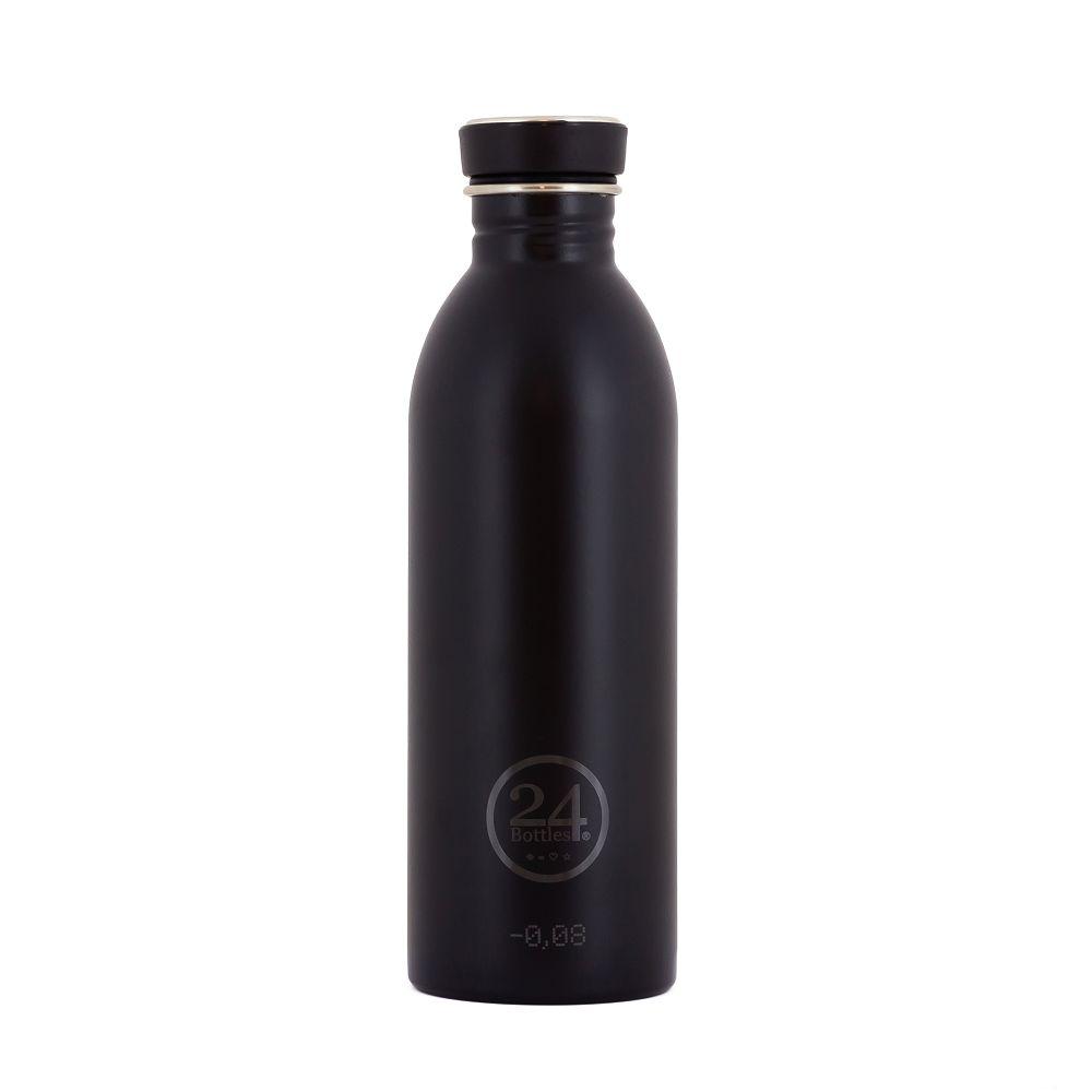 義大利 24Bottles 輕量冷水瓶 500ml (紳士黑)