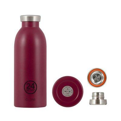 24Bottles_不鏽鋼雙層保溫瓶500ml_酒釀紅1