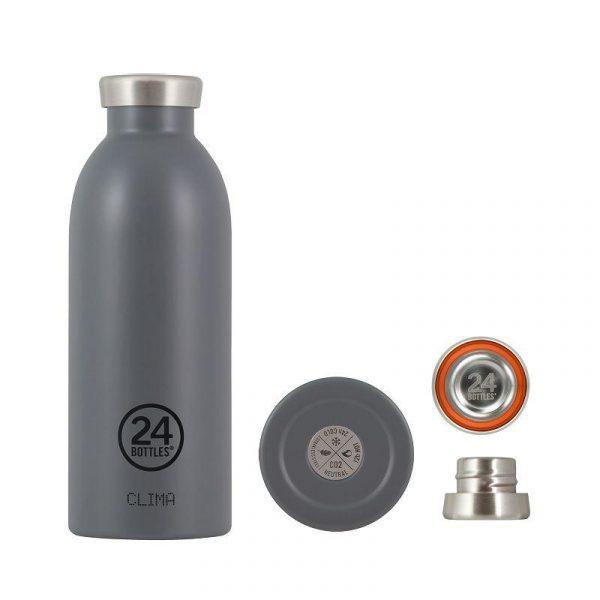 義大利 24Bottles 不鏽鋼雙層保溫瓶 500ml (雅典灰)